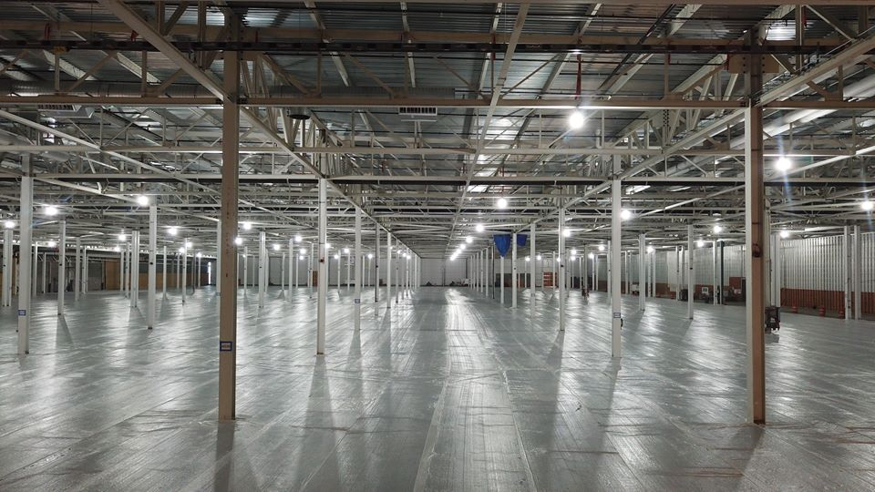 ReliableCure SOG Warehouse Installation