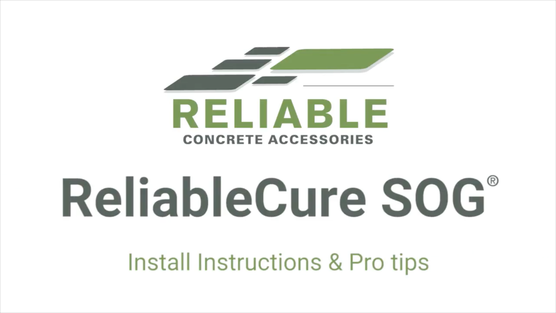 ReliableCure SOG Install Instructions & Pro tips